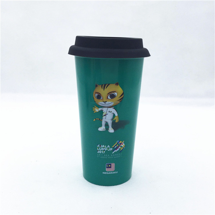 double wall metal stainless steel starbucks coffee cup mug