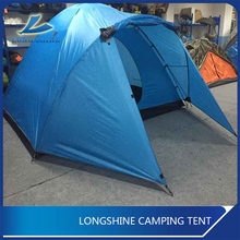 5-6 Person Double Layer Polyester Family Camping Tent With Fiberglass Pole
