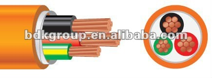 AS/NZS Circular Orange cable heat wire low voltage