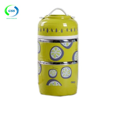 wholesale korean picnic storage plain lunch box with silicone handle