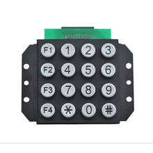 Ningbo zinc alloy button steel framework vandal and aging resistant chrome plated usb function keypad