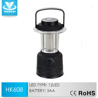 New Arrive Battery Powered Portable 12LED camping lantern with iron prop