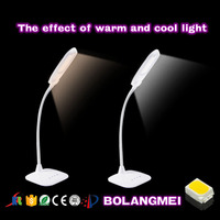 Hot sale white foldable modern table lamp with usb port for writing table lamp