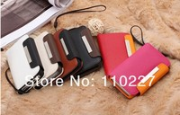 Good quality leather cover for iphone 4,for iphone 4 4gs flip leather case cover