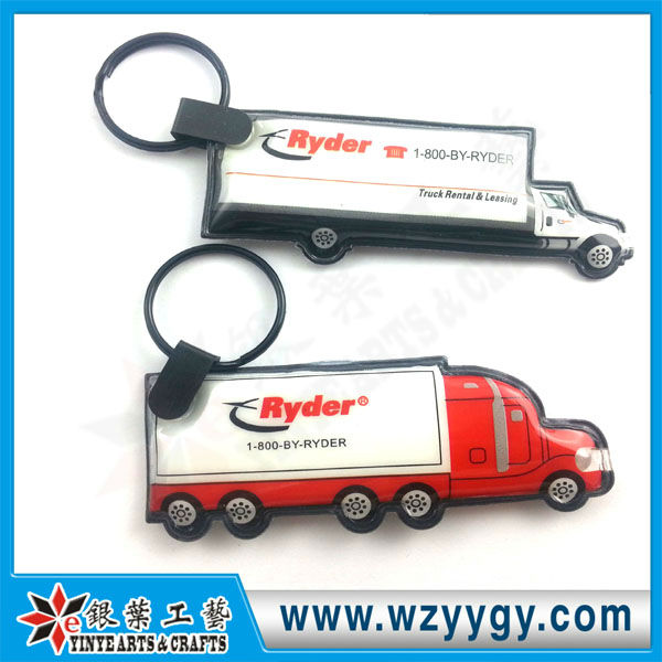 2013 promotional truck shape led key chain light low price Made in China