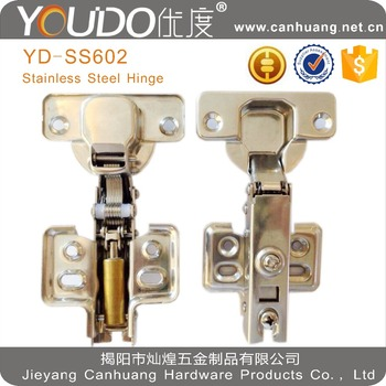 full stainless steel soft closing cabinet hinge