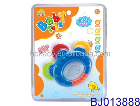 Wholesale cheap baby toy funny plastic baby rattles bell