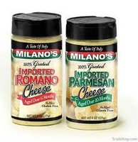 Milano Brand Grated Parmesan Cheese 12/8 oz per case