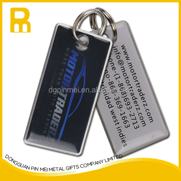 2016 high quality promotional blank custom metal key chain