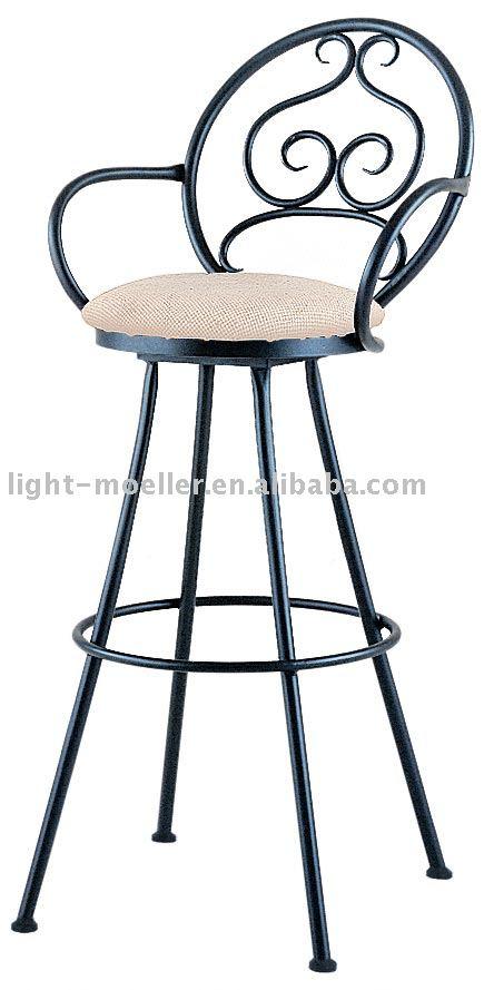 Barra de hierro forjado silla sillas de metal for Modelos de sillas de hierro