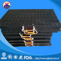 Handle texture surface black UHMWPE outrigger pad