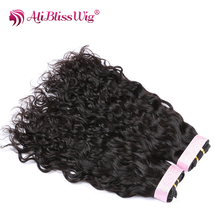 Natural Color Human Hair Weave Ali Bliss Wig Machine Made 7 A Brazilian Virgin Bundles Hair Extension for Wholesale