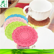 Four Leaf Clover silicone cup coaster/pvc cup mat /rubber mat