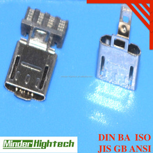 High precision deep drawing parts for relay contact and mini USB