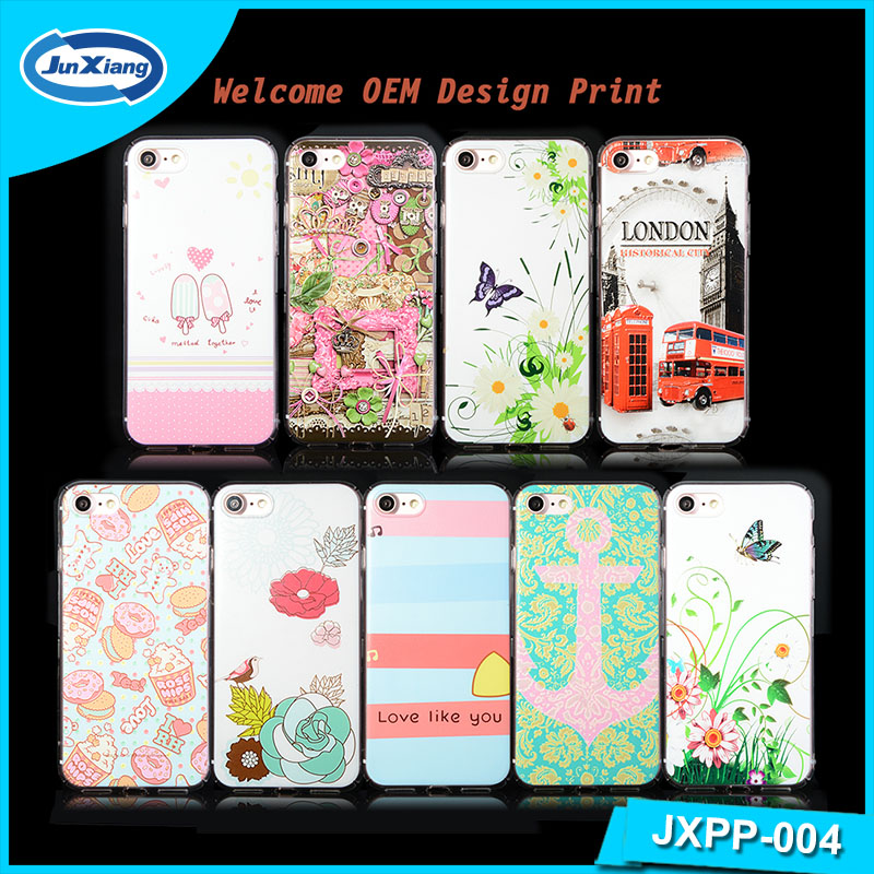 Hot selling new customized fashion design printing PC cover mobile phone case Hard PC case for iphone 7 water transfer PC cover
