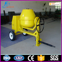 450L portable concrete mixer with water cooled diesel engine