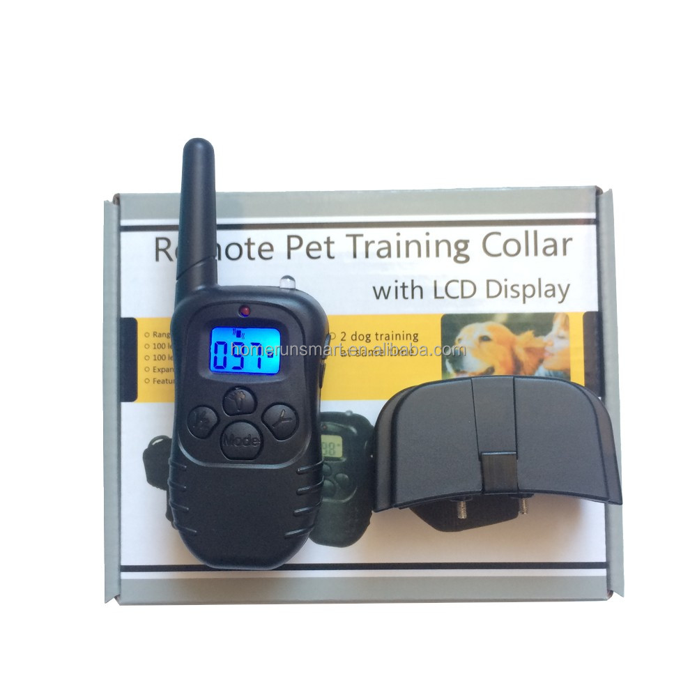 Pet Dog Training Collar Battery Styles 100 Level 300M Electronic Remote Control Anti Bark Dog Shock With LCD Display