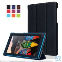 Wholesaler New CASTEL Tri Fold Protective shell PU Leather Flip Case for LENOVO TAB3 7 Essential 710F Tablet covers