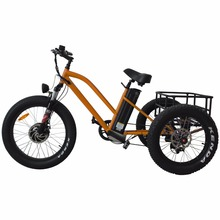 China factory price electric fat tricycle three wheel bike electric bafang front motor