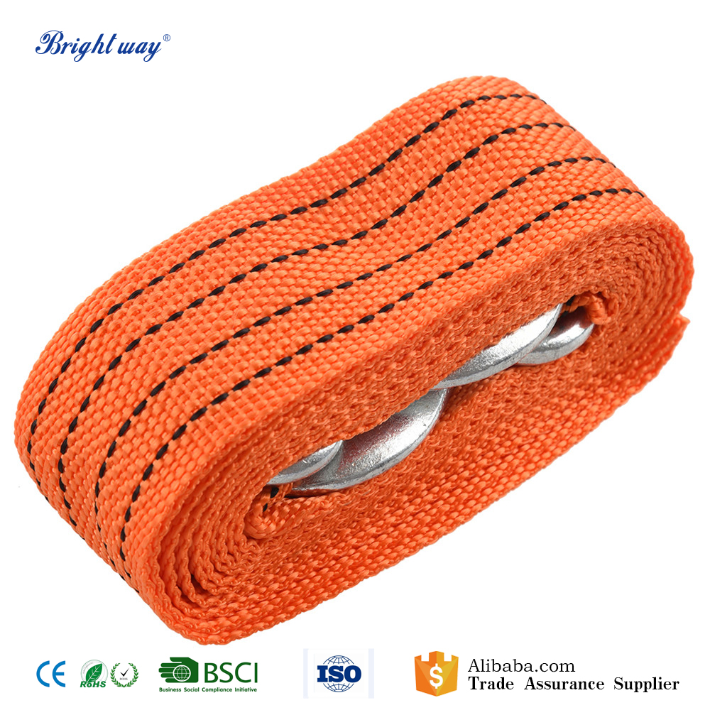 Emergency nylon Steel Recovery Tow Rope For Car Truck