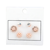 Wholesale Women Earring Jewelry Sets Lady Pearl and Crystal Earring ER160106