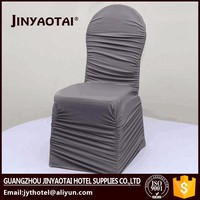 Jinyaotai elegant cheap satin fabric chair removable cover with beautiful sash