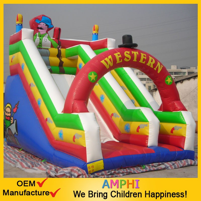 2015 hot sale inflatable skiing slide for commercial inflatable slip and slide