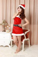 New year cloth 3pcs lingerie set for sex christmas eve womens' sexy underwear