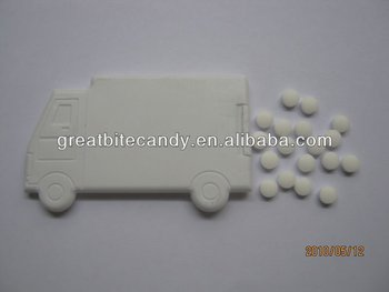Truck shape Mint card with sugar free mints