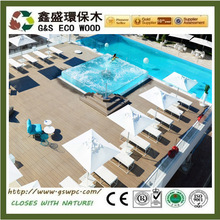 Eco-friendly wood plastic composite decking Outdoor Recycled plastic lumber low price wpc flooring