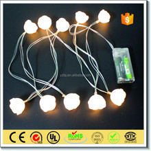 Hot sale Outdoor decoration led rose flower fairy string lights for wedding decoration