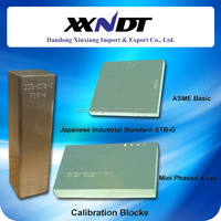 Ultrasonic standard calibration block ASME basic, mini pgased array block, block JIS-STB-G made in China