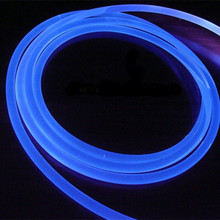 Solid core side glow swimming pool fiber optic lighting cable