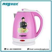 Colorful Electric Hot Water Kettle With Infuser Instant Boil