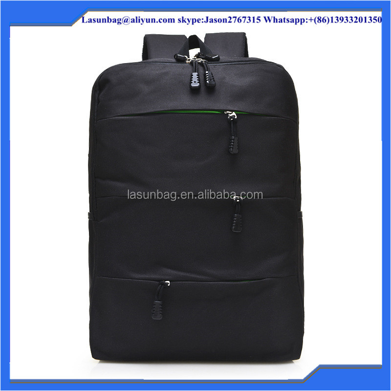 Fasion Black School Backpacks High Quality Waterproof Hking Nylon Bags Free Shipping