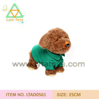 Animal Toy For Kids/ Cute DressingTeddy dog with plastic eyes