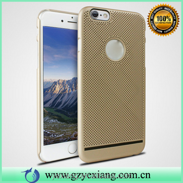 Phone accessories mesh design case for iphone 4g hard back cover heat dissipation function