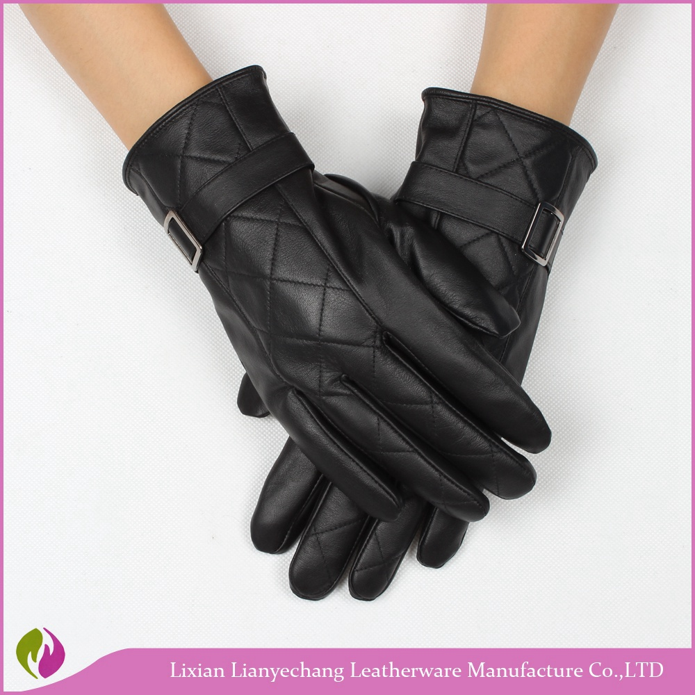 Alibaba express wholesale seepskin gloves fashion leather gloves with nails