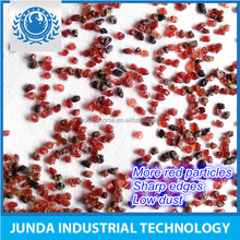 Dark red color Specific Weight 4.1 g/cm3 garnet abrasive supplier for plastic waterjet cutting