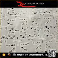 Customized Type Cotton Fancy Embroidery Fabric