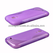 For Samsung Galaxy S4 Mini Purple TPU Mobile Phone Case Cover