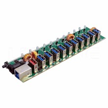 Fastest internal desk mounted pcb board 11 port USB 3.0 hub module