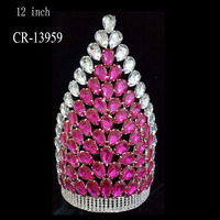 Hot 12 Inch Big Pageant Crowns For Sale