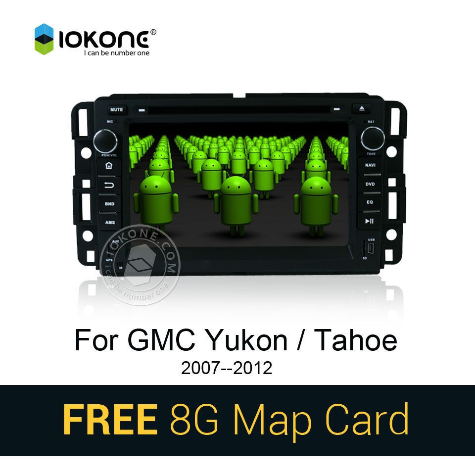 Android 4.4 3g wifi car radio stereo player with gps bluetooth for GMC Yukon/Tahoe 2007--2012