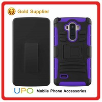 [UPO] Wholesale Rugged Hard Plastic TPU Robot Back Cover Stand Holder kickstand Case for LG LS770
