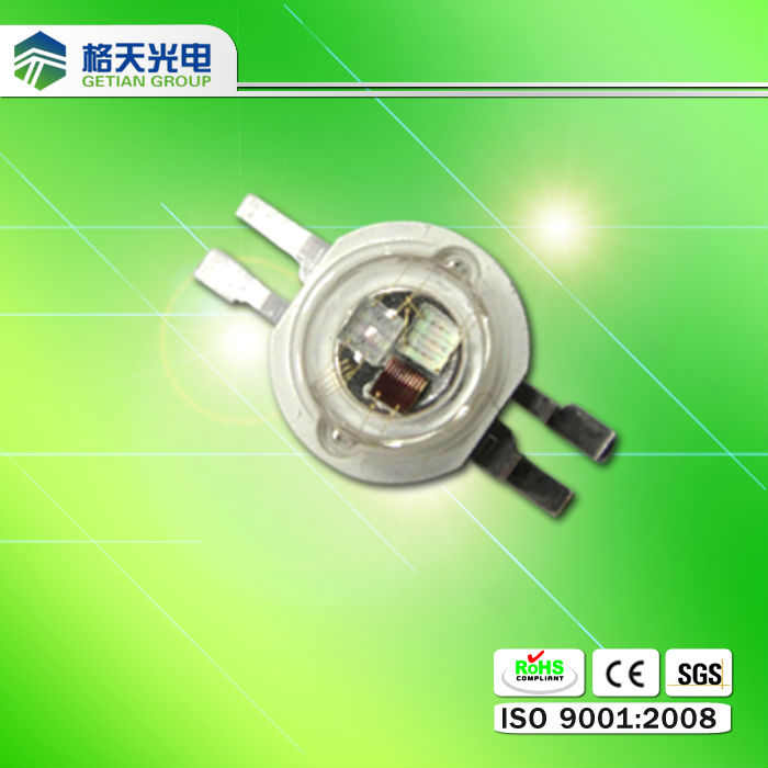 High color rendering 1w High Power LED RGB