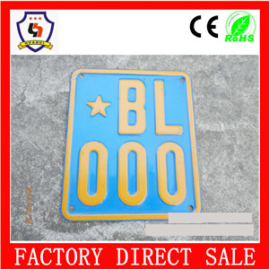 NO MOQ 5%off California style metal european custom neoblank license plate frame parkinG wholesale HH-licence plate-017
