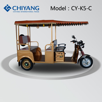 Battery power 3 wheel motor tricycle three wheeled motorcycles for passenger