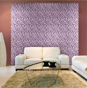 Fashion design purple color crackle crystal glass mosaics