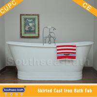 antique cast iron bathtub/modern freestanding bath tub/double slipper bath